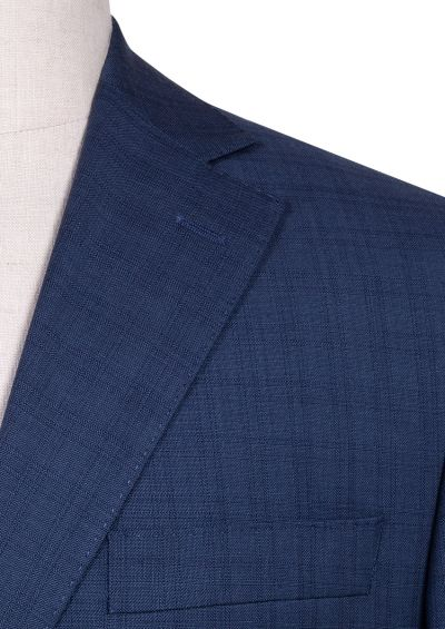 Brighton Suit | Dusty Blue Overcheck natural stretch