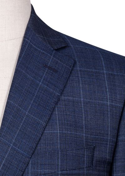 Ives Suit | Blue Contrast Yarn Check