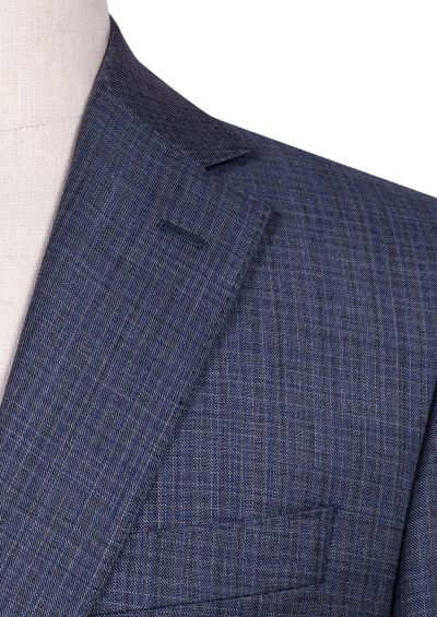 Ives Suit | Mid Grey natural stretch Multicheck