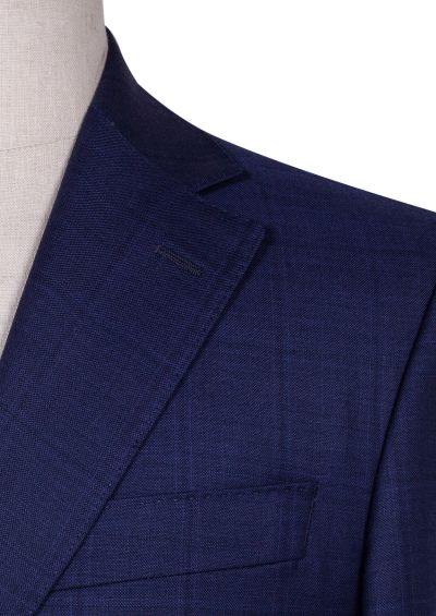 Ives Suit | Indigo Blue Check