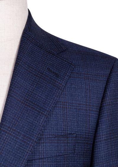 Kennedy Suit | Blue Bugundy Overcheck
