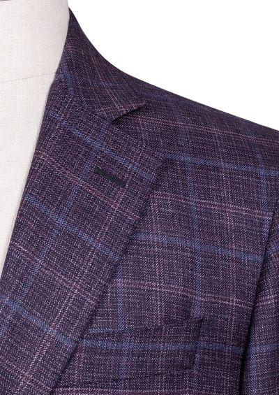 Archer Sport Coat | Burgundy Melange Check