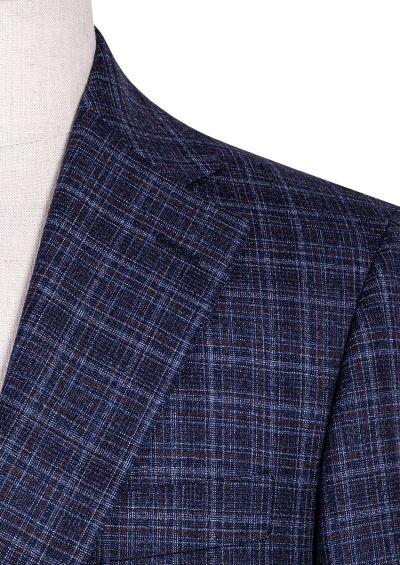 Archer Sport Coat | Blue Brown Shadowcheck