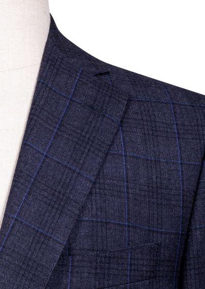 Dayton Sport Coat   Grey Blue Check