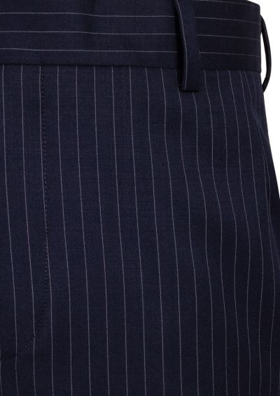 Tives Trousers | Navy Pinstripe