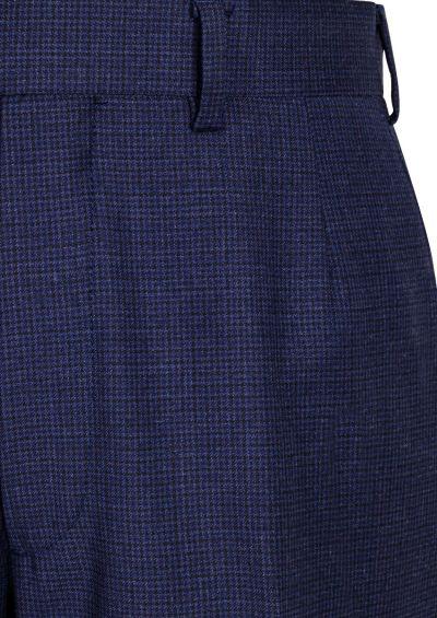Slack Trouser | Dusty Blue Houndstooth
