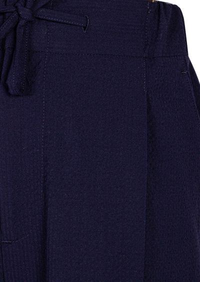 Sirenuse Trouser | Navy Seersucker