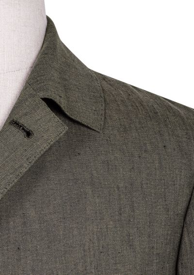 Arienzo Shirt Jacket | Khaki Linen