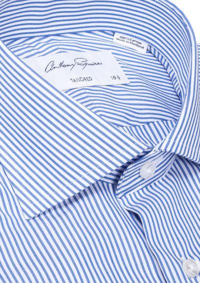 Nigel Business Shirt I Blue Bengal Stripe