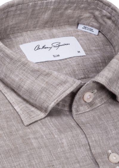 Riley Casual Shirt | Stone Flax