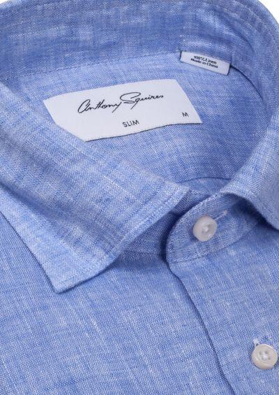Riley Casual Shirt | Light Blue Flax