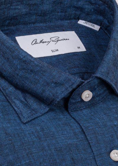 Riley Casual Shirt | Dark Blue Flax