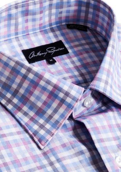 Colin Casual Shirt   Pink/Blue Check