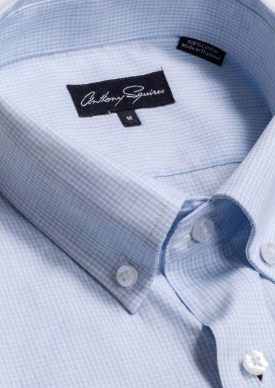 Ryan Casual Shirt | Blue Minicheck