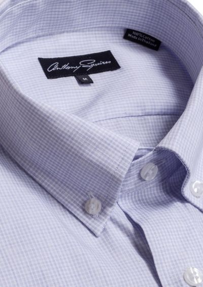 Ryan Casual Shirt | Lilac Minicheck