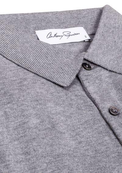 Leroy Polo Shirt | Grey Knit
