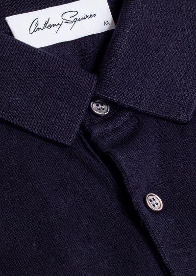 Leroy Polo Shirt | Navy Knit