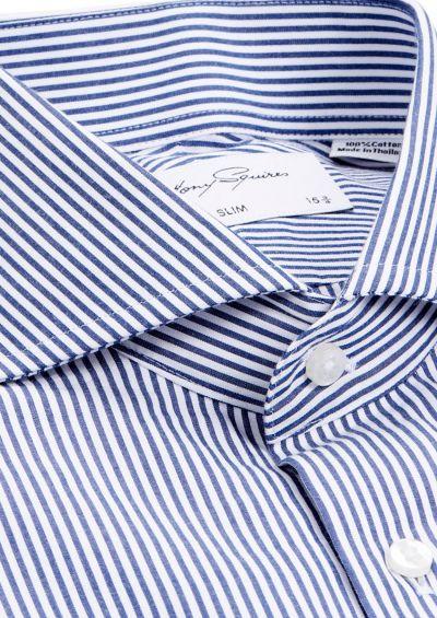 Alton Business Shirt | Navy Stripe