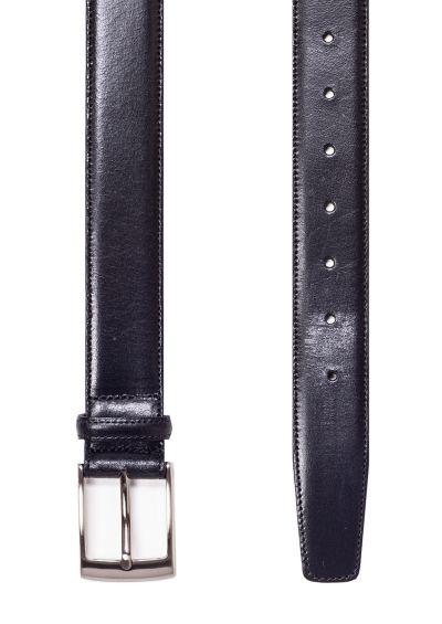 Black leather belt | Stitched