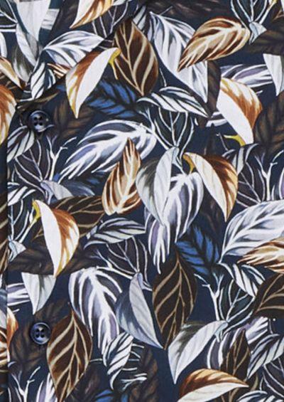 Franco Shirt | Mixed Navy Botanical Print