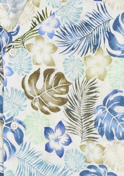 Franco Shirt | Blue Botanical Print