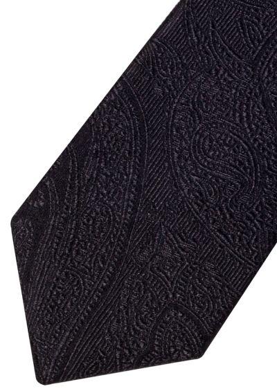 Silk Tie | Black Paisley