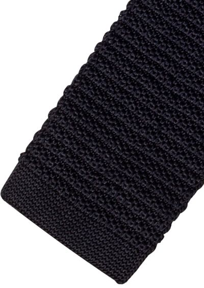 Silk Tie | Black Knitted