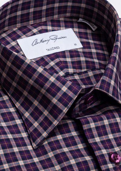 Fox Casual Shirt   Burgundy Check
