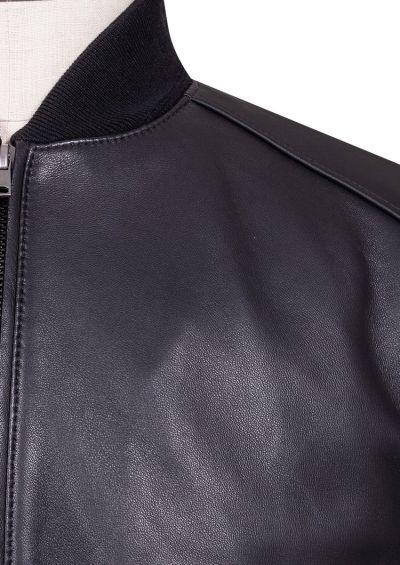 Salinger Bomber Jacket | Black Leather