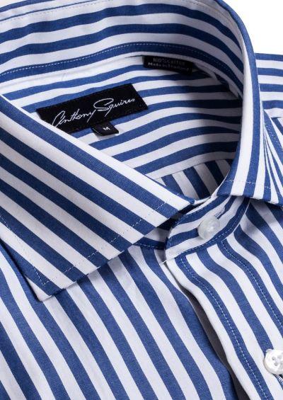 Rod Casual Shirt | Navy White Stripe