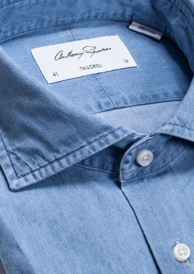 Nigel Business Shirt | Light Blue Denim