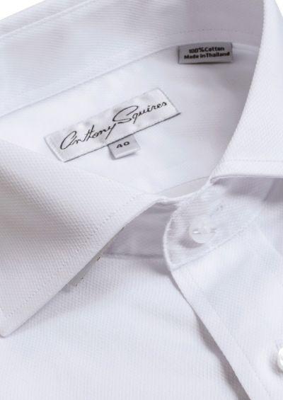 Bruce Business Shirt | White Textured