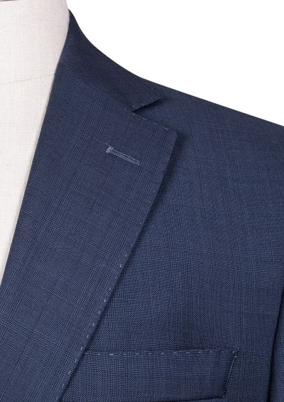 Brighton+ Suit | Blue Tonal Overcheck