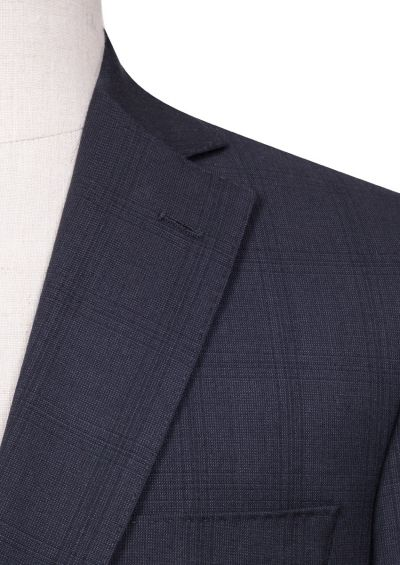 Brighton Suit   Charcoal Overcheck