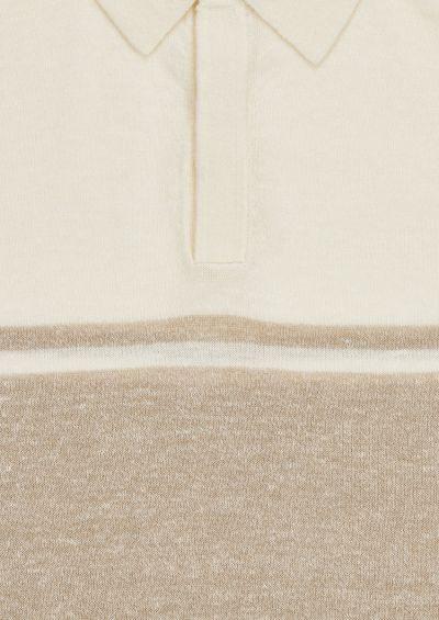 Moreshi Polo Shirt | Sand & Stone Melange