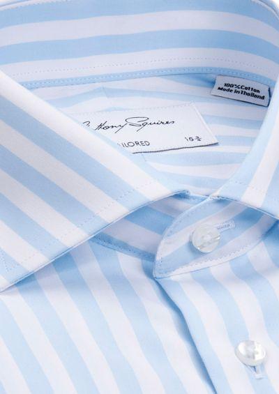Nigel Business Shirt | Blue Bengal Stripe