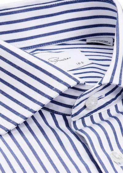 Nigel Business Shirt | Navy Stripe