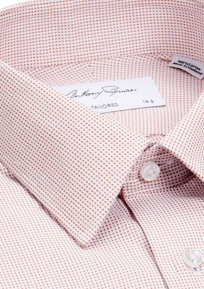 Norris Business Shirt | Orange Microdesign