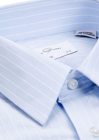 Norris Business Shirt | Blue Fine Pinstripe