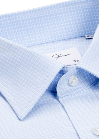 Roy Business Shirt | Blue Minicheck