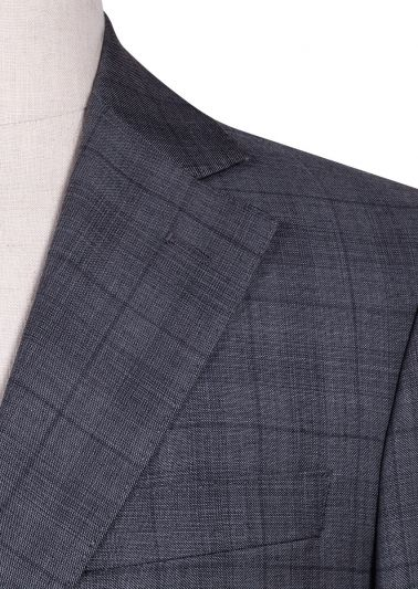 Sinclair Suit | Mid Grey natural stretch Overcheck