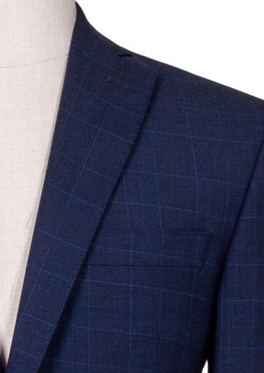 Brighton Suit | Blue Fine Windowpane