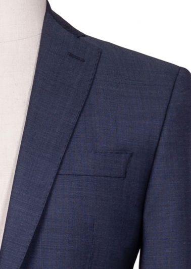 Brighton Suit | Grey/Blue Microdesign