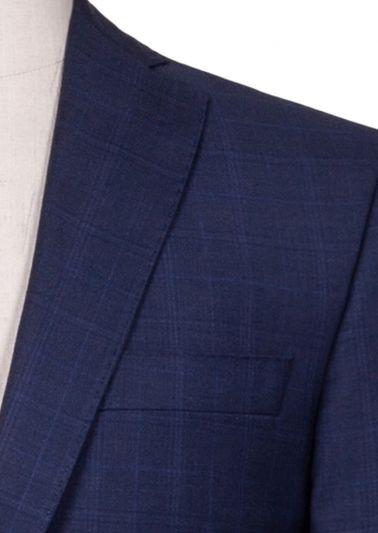 Brighton Suit | Blue Tonal Overcheck