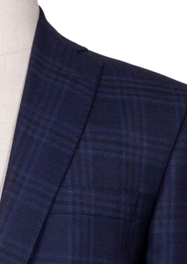 Payton Sport Coat | Navy Windowpane Check