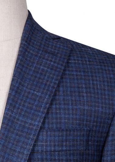 Parker Sport Coat | Blue Minicheck