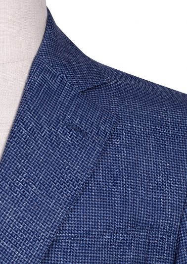 Archer Sport Coat | Blue Houndstooth