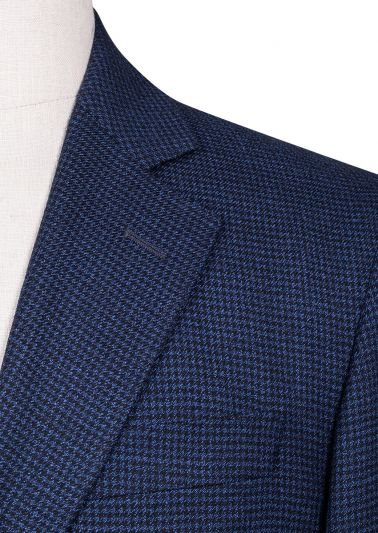Archer Sport Coat | Navy Black Houndstooth