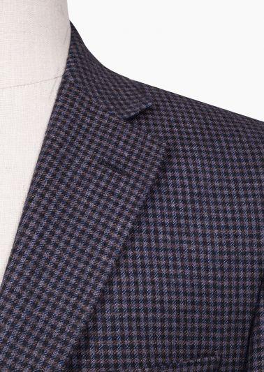 Dayton Sport Coat | Blue/Brown Check