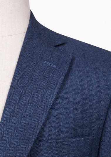 Dayton Sport Coat | Blue Herringbone